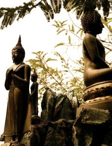 Statues at a temple, Bangkok, Thailand, Picture: Maria Doyle