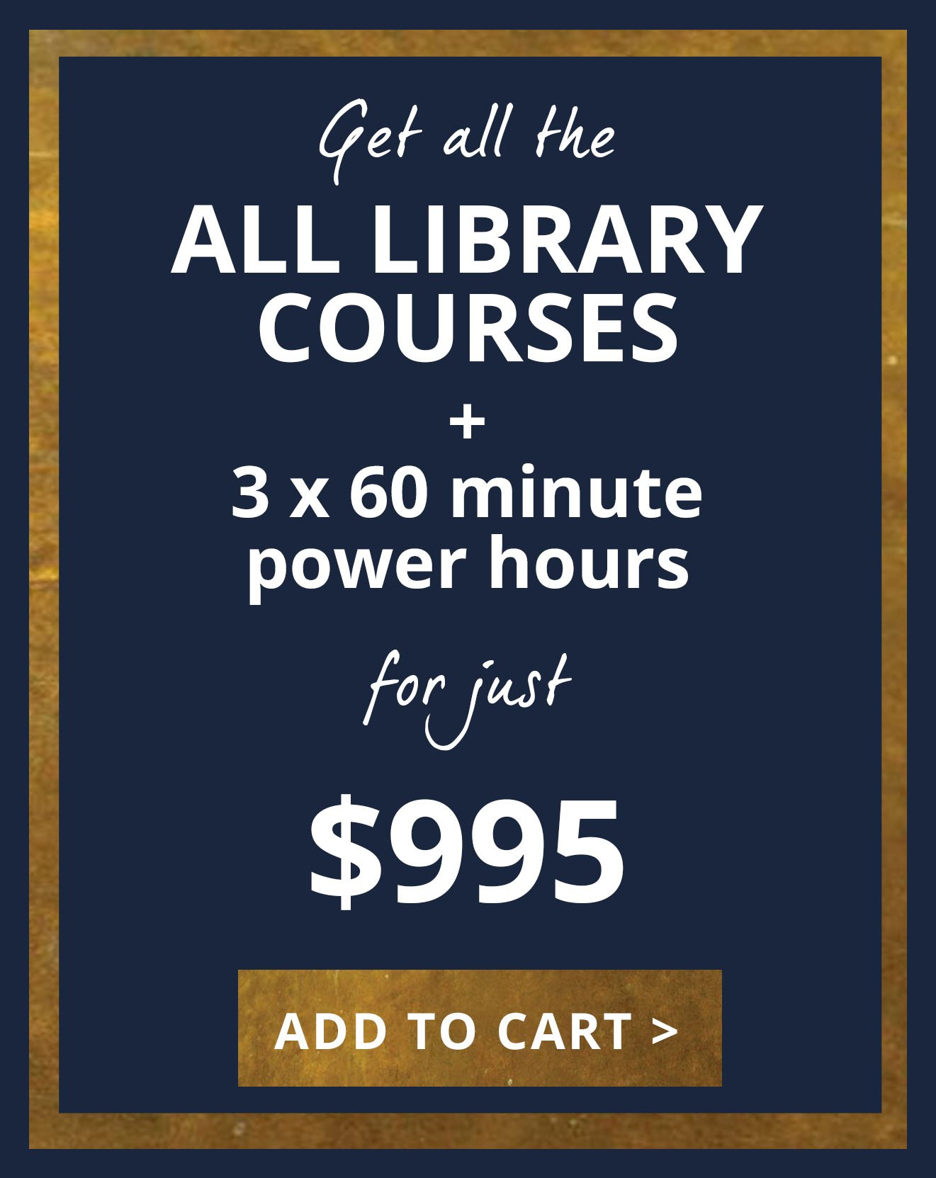 All Library Courses bundle with power hours