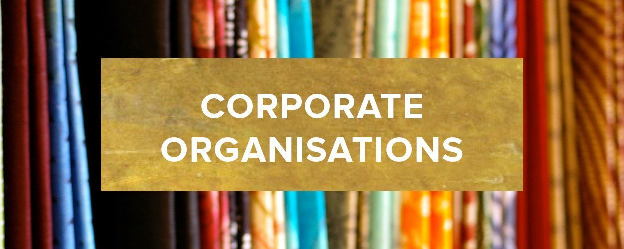 Corporate Organisations Button - Gold