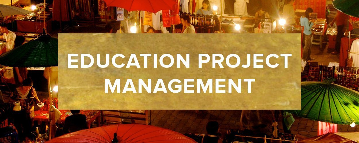 Education Project Management Button - Gold
