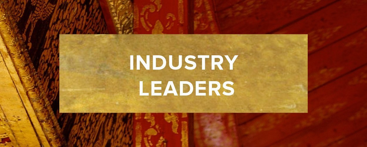 Industry Leaders Button - Gold