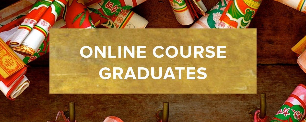 Online Course Graduates Button - Gold