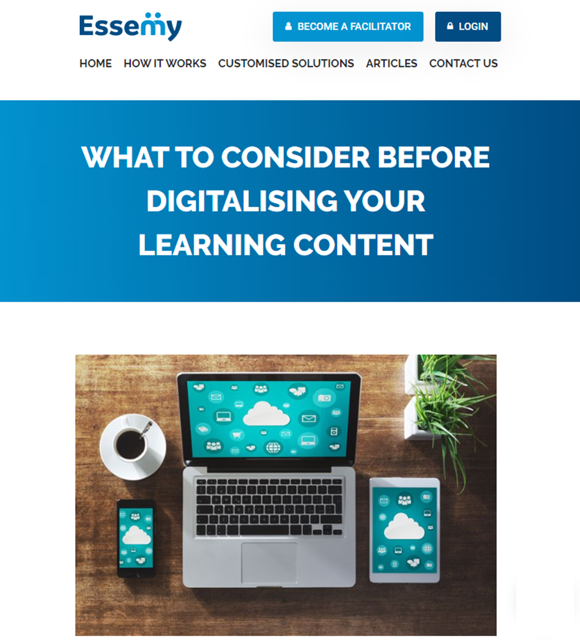 Digitalising learning content