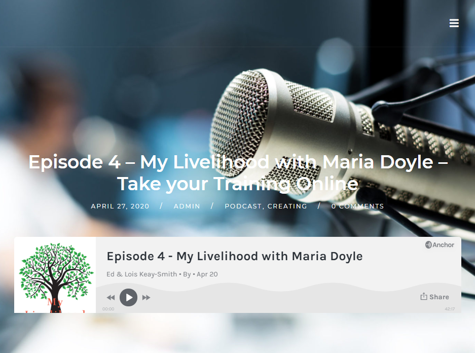 Podcast My Livelihood with Maria Doyle